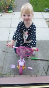 Grace's First Bike Ride Family Clan Blog